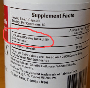 Forskolin-dosage