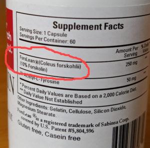 Forskolin-dosage