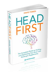Head First book cover - The Complete Guide to Healing & Optimizing Your Brain with Nootropic Supplements