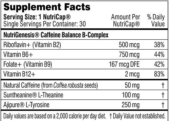 Performance Lab Stim supplement facts